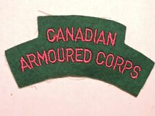 INSIGNE BADGE COMMONWEALTH CANADIAN ARMOURED CORPS