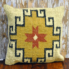 Traditional Kilim Ethnic Aztec Cushion Cover with Filler 40x40cm