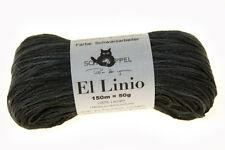 Schoppel Wolle El Linio 50g weiches Leinen Bändchengarn Fb 2271 schwarzarbeiter