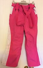 Girls Next Age 7-8 Years- Waterproof Trousers With Braces - Hardly Worn