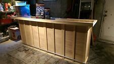 New Solid Wood Home Bar, Hand Made, 96x24x42, LED Lighting System, FREE SHIP