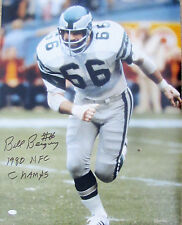 "Bill Bergey  Signed 16x20 - Philadelphia Eagles - ""1980 NFC Champs"" Inscription"