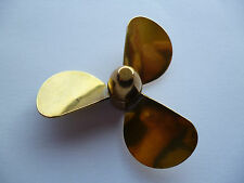 Model Boat Brass Propeller 55mm 3 Blade  L/Hnd M4 Thread 146-20