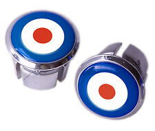 Mod Target Bicycle Handlebar Chrome Plastic Bar End Plugs, Bungs, Caps L'Eroica