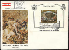 Austria 1983 Relief Of Vienna M/S FDC First Day Cover #C25953