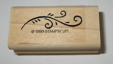 Flourish Border Rubber Stamp Stampin' Up! Branch Leaves Coming From Left Retired