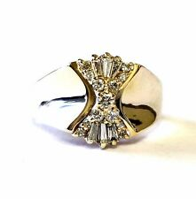 14k yellow gold .23ct SI3 H women's diamond cluster ring 6.7g ladies estate