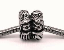 Couple Sweetheart Lovers Bride Groom Bead for Silver European Charm Bracelets
