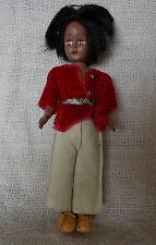 Indian Native American Dress Me Doll Strung Leather Pants Red Shirt Sleep Eyes 7