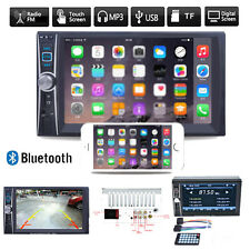 "7"" 2 DIN Autoradio NAVI Bluetooth Touch Screen DVD CD MP3 Player USB TF AUX Neu"