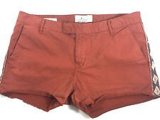 Lucky Brand Womens Sienna Chino Size 12/31 Cotton Casual Shorts w/Aztec Details