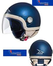 CASCO DEMI JET AXO SUBWAY BLU CON BORDO BEIGE MIS. M