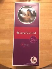 """New Retired American Girl 2015 Doll of the Year 18"""" Grace w/ Bracelet & Book"""