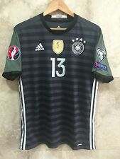 Germany Thomas Muller 2016 Euro Adizero Away black/green Jersey Large