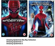 AMAZING SPIDER-MAN PART 1 2 BLU RAY Andrew Garfield SPIDER MAN SPIDERMAN Sealed
