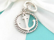 Tiffany & Co Silver Anchor Sea Circle Oval Twist Charm Clasp 4 Necklace Bracelet