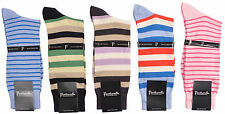 Pantherella Mens Stripes Sea Island Cotton Mid-Calf Socks 5-pair Couture Pack