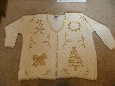 TEACHERS LOOK  The UGLIEST crazy tacky vintage CHRISTMAS party SWEATER - LT-18