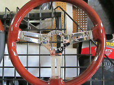 FIAT 124 SPIDER, PININFARINA 2000, 131, WOOD STEERING WHEEL, 350MM, CHROME SPOKE