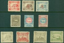 EARLY NORWAY LOCALS, 9 DIFFERENT, TOP 2 ROWS USED, BOTTOM ROW OG, LH, OR NH, VF