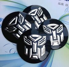 "4x 56mm 2.2"" Auto Wheel Center Cap Emblem Badge Decal for Transformers Autobots"