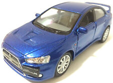 "1:36 Scale 2008 Mitsubishi Lancer Evo Evolution X diecast model car 5"" Blue"