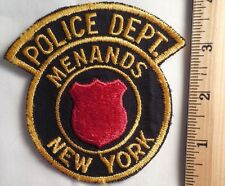 MENANDS NEW YORK POLICE PATCH (HIGHWAY PATROL, SHERIFF, EMS)