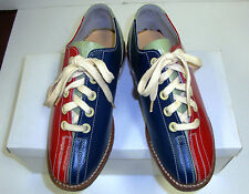 Youth Girls Boys Rental Bowling Shoes Size 1 1/2 Blue Red Green Leather -NEW