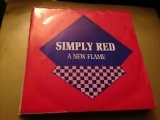 "SIMPLY RED SPANISH 7"" SINGLE SPAIN SAME SIDED - A NEW FLAME"