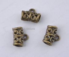10pcs antique bronze Connectors Bail Beads hole3.6MM DIY Findings