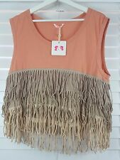 SASS&BIDE sz 12 (or 8 us / M ) womens Antidote to modernity tank Top NEW [#1090]