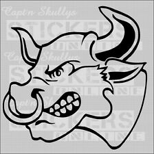BULL HEAD DECAL 180mm x 180mm 15 COLOURS TO CHOOSE FROM