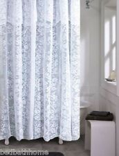 NEW - Romance White Lace Fabric Shower Curtain