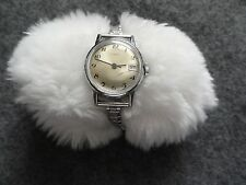 Ladies Timex Wind Up Vintage Watch with a Stretch Band