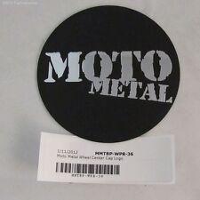 80mm DIA 3 1/8 inch Moto Metal BP-WPR-35 Center Cap Logo Black & Chrome 6 Lug