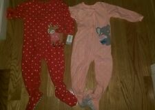 2 Carter's 3t pajamas girls lot nwt and nwot