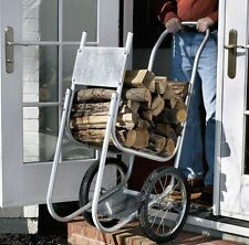 Wood holder Mover Hauler Fireplace Wood Rack Caddy Cart Firewood Carrier Dolly