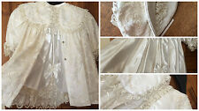 EXQUISITE ONE OF A KIND-CHRISTENING VINTAGE LACE-BABY OR REBORN -HAT-COAT-DRESS