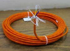 10 feet 24 AWG Orange Shielded Silver Plated PTFE Wire 3 Twisted 19 strands