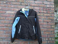 Columbia Hooded Brown Blue Winter Parka Coat Size Youth 18/20