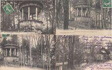 Lot de 4 cartes postales anciennes BAR-LE-DUC temple grec dans le parc