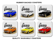 HOLDEN  TD  GEMINI  STATION WAGON   SET OF 6 RUBBER DRINK  COASTERS