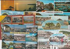 10 Postcard CORNWALL Harbours  riveriera sunsets seal sanctuary coast lettercard