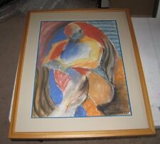 Kathy Leader, Original Chalk, Signed Matted & Framed Drawing (one)  32x25""