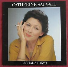 CATHERINE SAUVAGE  LP ORIG FR  RECITAL A TOKYO