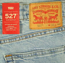 Levis 527 Jeans Mens New Slim Boot Cut Size 33 x 32 BLUE STONE Levi's NWT #251