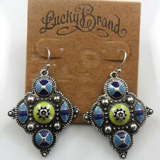 New Alloy Retro Lucky Brand Blue Earrings