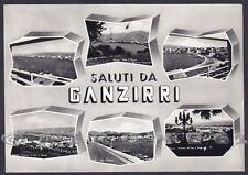 MESSINA CITTÀ 201 Frazione GANZIRRI - SALUTI da... VEDUTINE Cartolina FOTOGR.