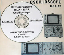 HP 180A 180AR OSCILLOSCOPE OPERATING & SERVICE MANUAL