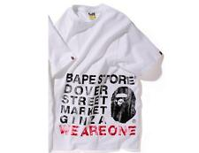 6257 bape x dover street market 1st.anniversary compressed logo tee M